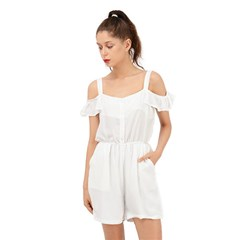 Ruffle Cut Out Chiffon Playsuit