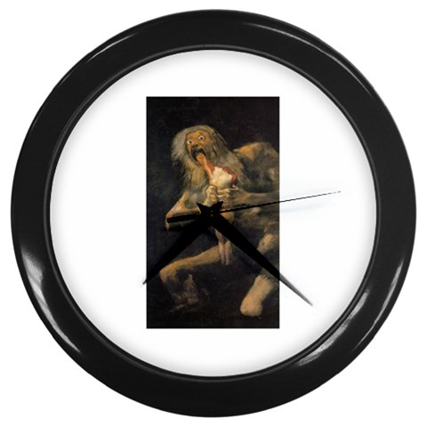 Goya Saturn Goth Dark Cannibal Art Painting Wall Clock