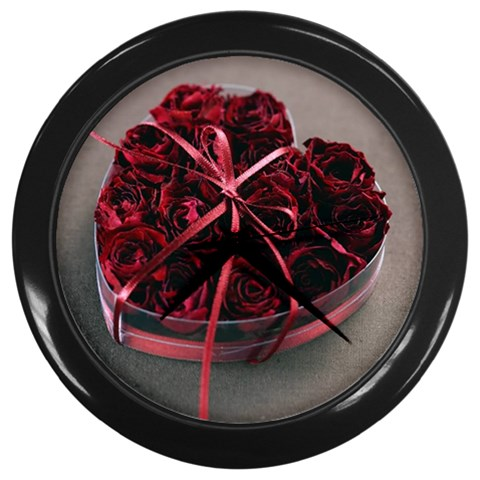 Valentine Rose Heart Romantic Love Gift Wall Clock