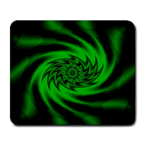 Neon Green and Black Goth Fractal Mouse Pad Mousepad