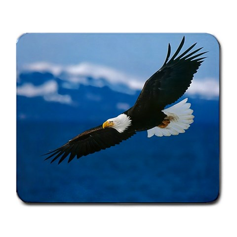 Soaring Bald Eagle in Mountains Mouse Pad Mat Mousepad