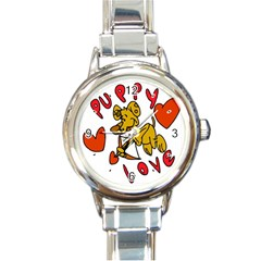 Puppy Love Round Italian Charm Watch from MallPress.com Wholesale Dropship Stores Front