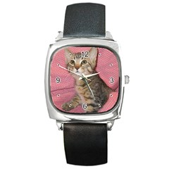 Adorable Kitten Square Metal Watch from MallPress.com Wholesale Dropship Stores Front
