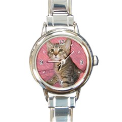 Adorable Kitten Round Italian Charm Watch from MallPress.com Wholesale Dropship Stores Front