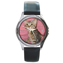 Adorable Kitten Round Metal Watch from MallPress.com Wholesale Dropship Stores Front