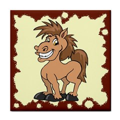 Cheeky pony Tile Coaster from MallPress.com Wholesale Dropship Stores Front