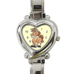 Cheeky pony Heart Italian Charm Watch from MallPress.com Wholesale Dropship Stores Front