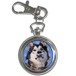 Alaskan Malamute Dog Key Chain Watch