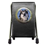 Alaskan Malamute Dog Pen Holder Desk Clock