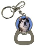 Alaskan Malamute Dog Bottle Opener Key Chain