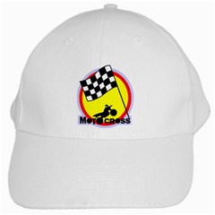 Motocross White Cap from MallPress.com Wholesale Dropship Stores Front